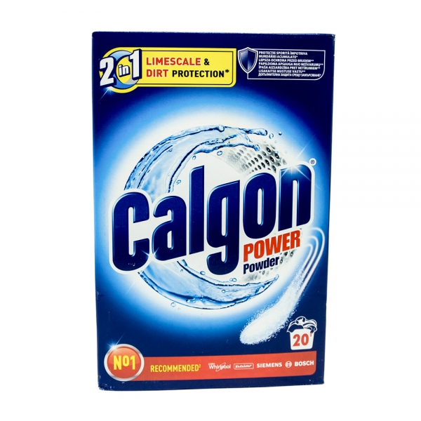Calgon pudra anticalcar, 2in1 Protect & Clean, 20 spalari