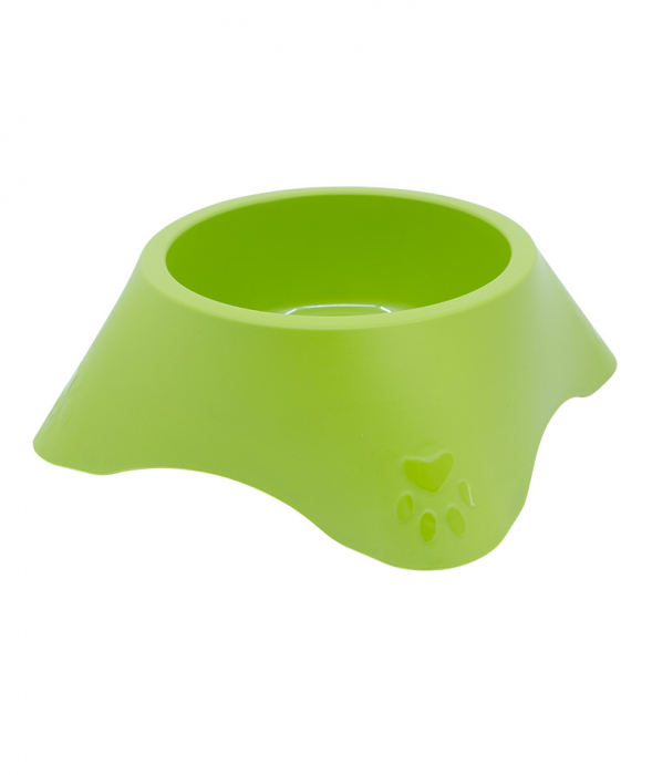 Castron din plastic pentru animale, 1.4 l,  verde [0]