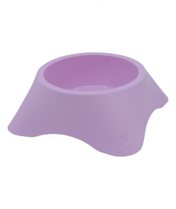 Castron din plastic pentru animale, 700 ml, roz [0]
