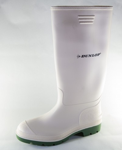 Cizme Dunlop, albe, industria alimentara, talpa nitril, flexibila, captuseala detasabila 0