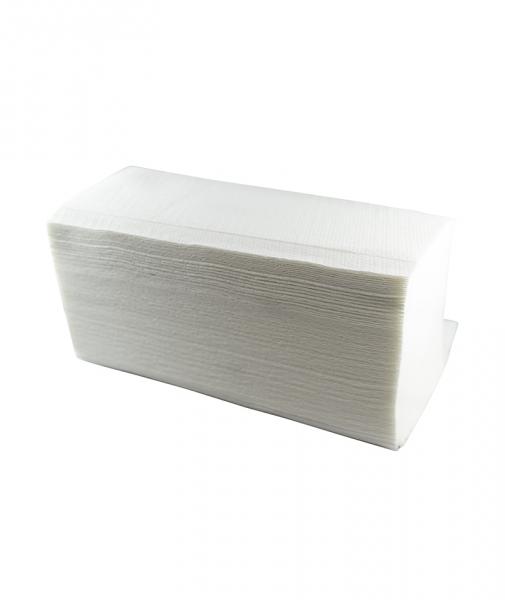 Prosoape pliate in V Premium, albe, 200 buc, 20 pach/bax 1