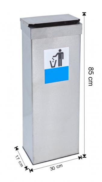 Cos colectare selectiva cu capac, metalic, 40 L [0]