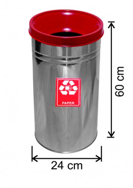 Cos colectare selectiva, inox, 27 L 0