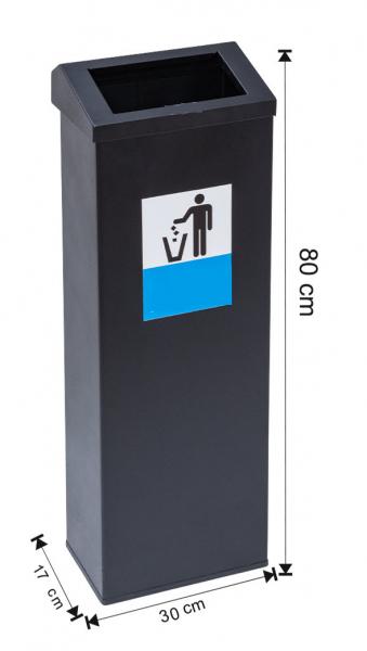 Cos colectare selectiva, metalic, 40 L 0