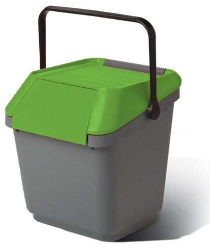 Cos colectare selectiva, suprapozabil, verde, 35 L [0]