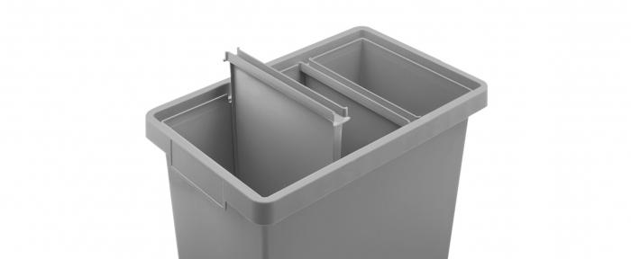 Cos gunoi colectare selectiva, 3 compartimente, 40 L [3]