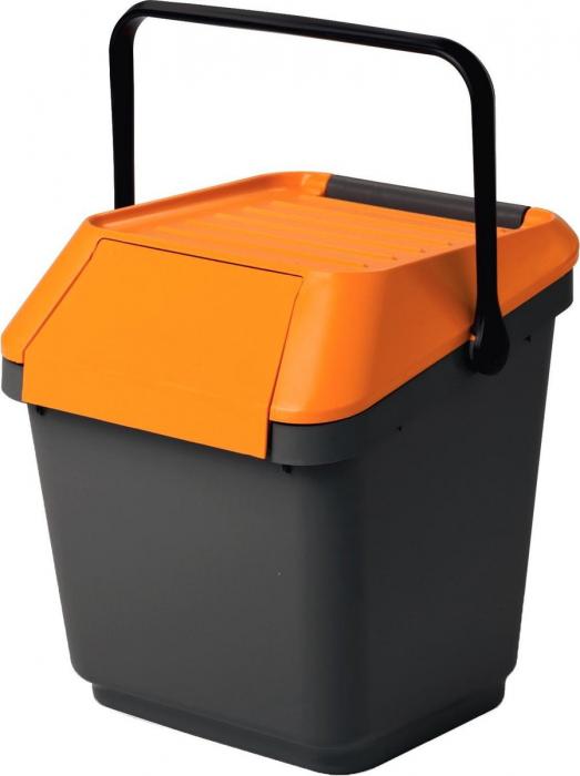 Cos colectare selectiva, suprapozabil, portocaliu, 35 L [0]