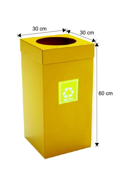 Cos colectare selectiva, galben, metalic, 54 L 0