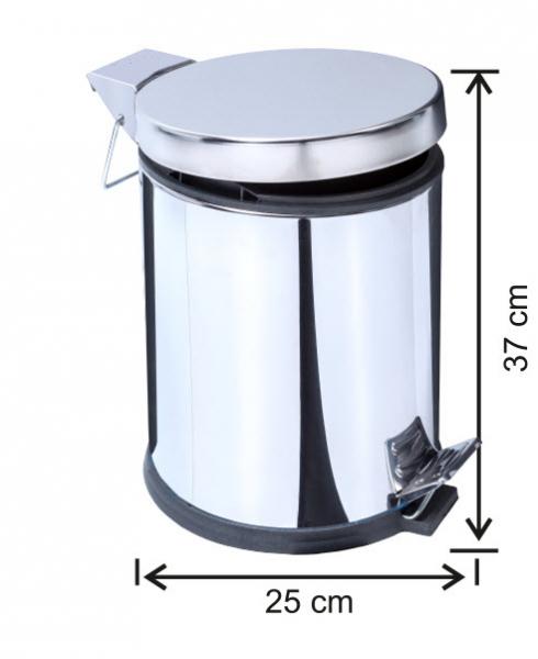 Cos de gunoi cu pedala, inox, 12 L [0]