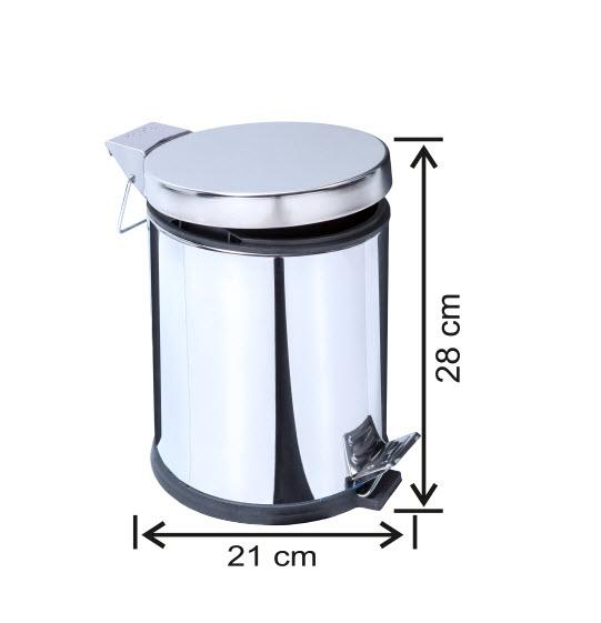 Cos de gunoi cu pedala, inox, 5 L [1]