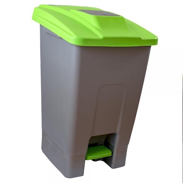 cos-gunoi-cu-pedala-cex-cube-100-l-verde 0