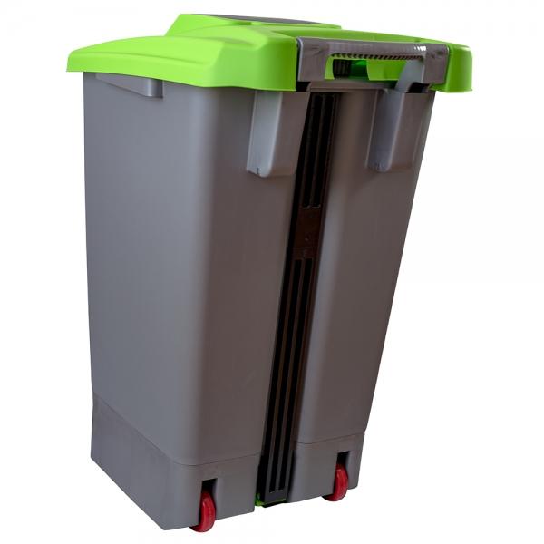 cos-gunoi-cu-pedala-cex-cube-100-l-verde 2
