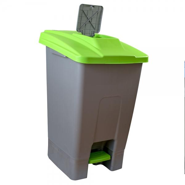 cos-gunoi-cu-pedala-cex-cube-100-l-verde 1