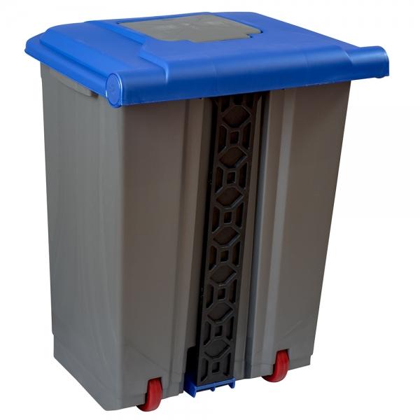 cos-gunoi-cu-pedala-cex-cube-50-l-albastru 3