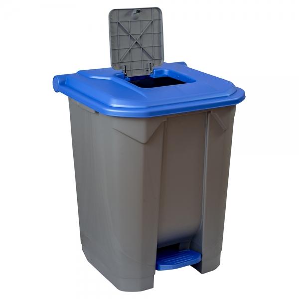 cos-gunoi-cu-pedala-cex-cube-50-l-albastru 1