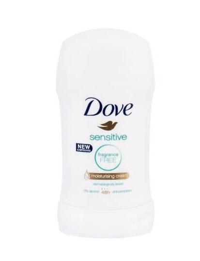 Deodorant antiperspirant Dove Sensitive, stick, 40 ml 0