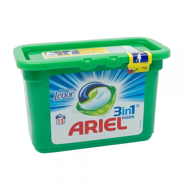 Detergent capsule Ariel 3in1 Pods Touch of Lenor Fresh, 15 spalari 0