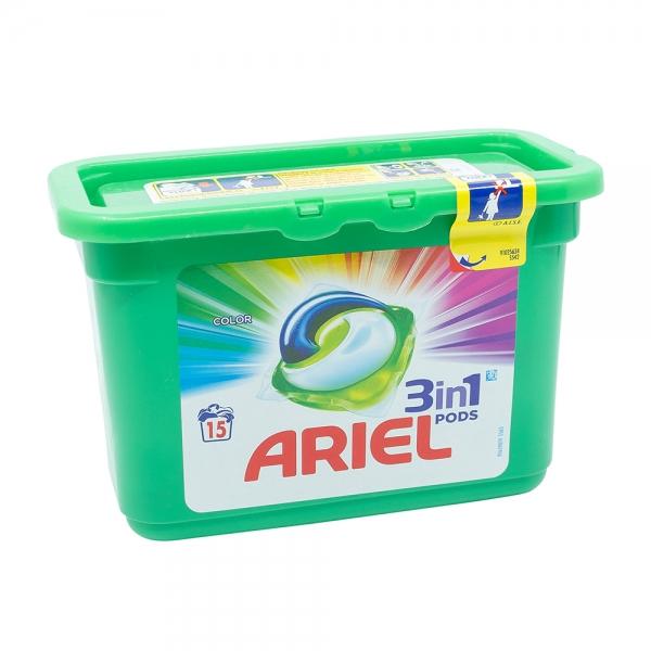 Detergent capsule Ariel 3in1 Pods Color, 15 spalari 0