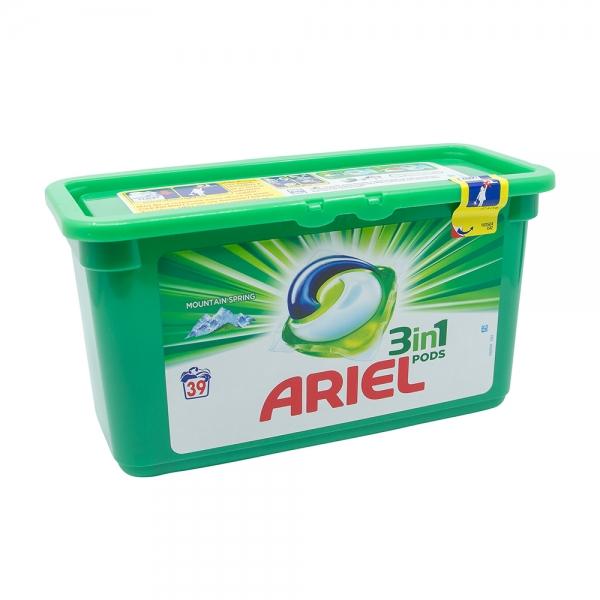 Detergent capsule Ariel 3in1 Pods Mountain Spring, 39 spalari 0