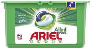 Detergent capsule Ariel 3in1 Pods Mountain Spring, 40 spalari [0]