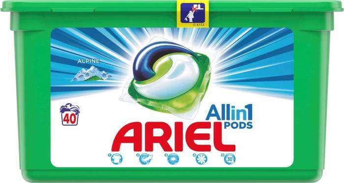 Detergent capsule Ariel 3 in1 Pods Alpine, 40 spalari [0]