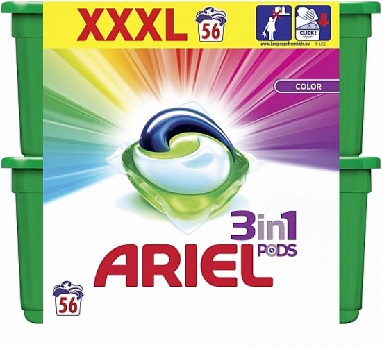 Pachet Ariel Detergent capsule All In 1 Pods Color Touch, 56 spalari 0