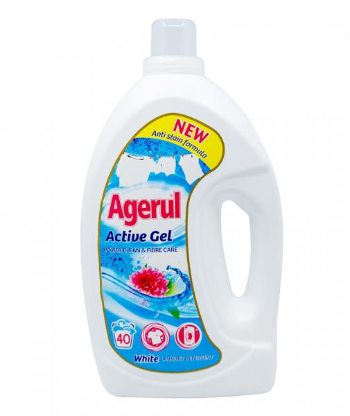 Detergent gel activ pentru rufe albe, 3 L 0