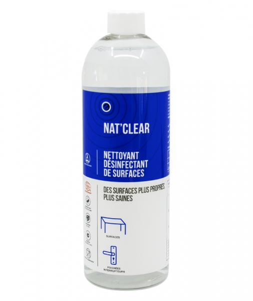 Detergent igienizant pentru suprafete, Bio, NAT CLEAR, 750 ml 1