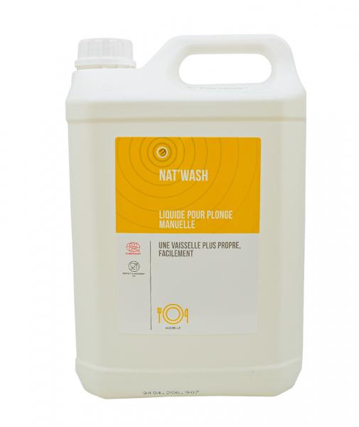 Detergent lichid pentru spalare manuala, NAT WASH - CERTIFICAT ECOCERT, 5 L 0