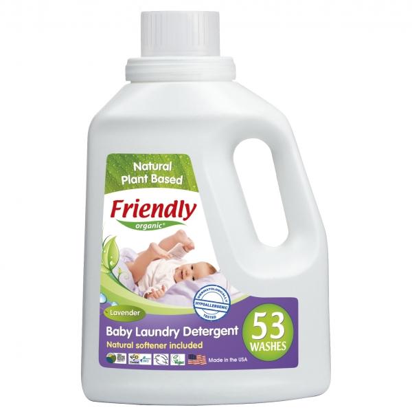 Detergent Rufe Bebe Lavanda si Musetel Friendly Organic, 1567 ml, 53 spalari