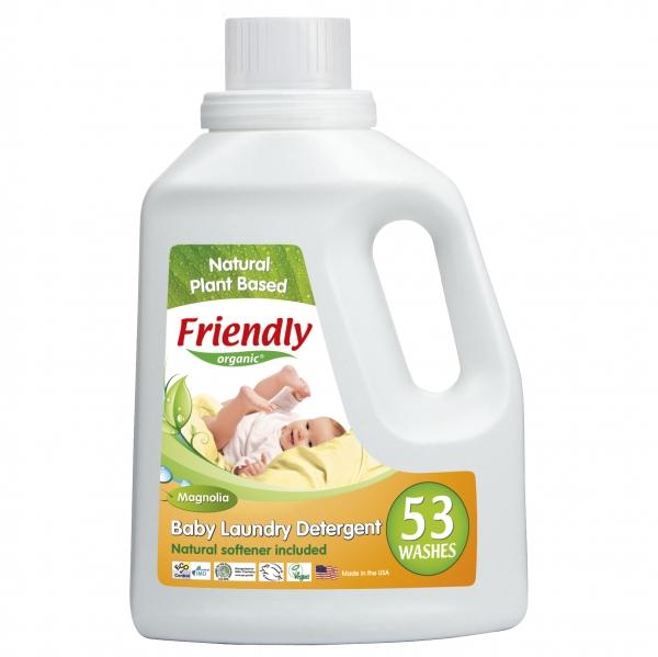 Detergent Rufe Automat Bebe Magnolie Friendly Organic, 1567 ml, 53 spalari 0