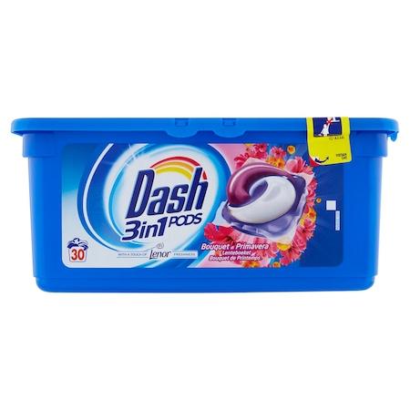 Detergent rufe capsule Dash 3 in 1, Buchet de Primavara, 30 spalari [1]