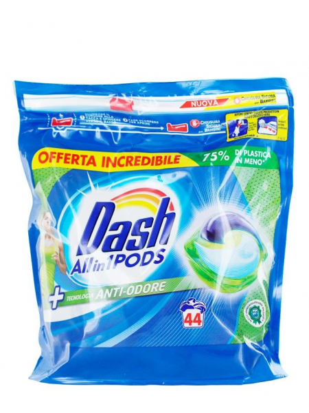 Detergent rufe capsule Dash All in 1 Pods Antiodore, 44 spalari 0