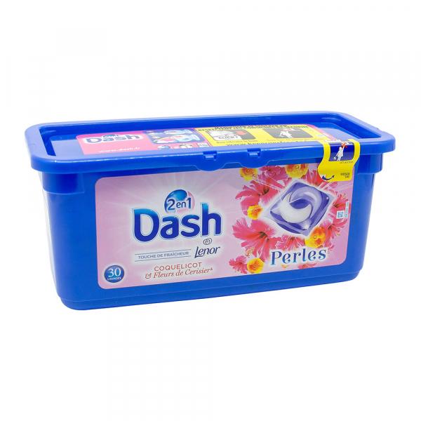 Detergent rufe capsule Dash 2 in 1, Flori de cires, 30 spalari 0