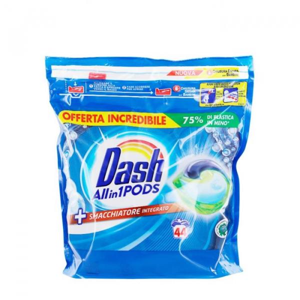 Detergent rufe capsule Dash All in 1 Pods Smacchiatore, 44 spalari 0