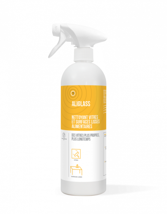 Detergent suprafete sticla industria alimentara, ALIGLASS, ECOCERT, 750 ml [0]