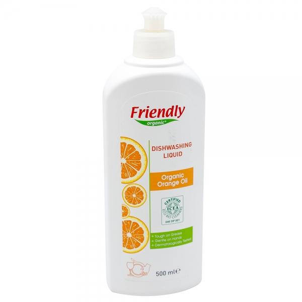 Detergent vase cu ulei organic de portocale, Friendly Organic, 500 ml 0