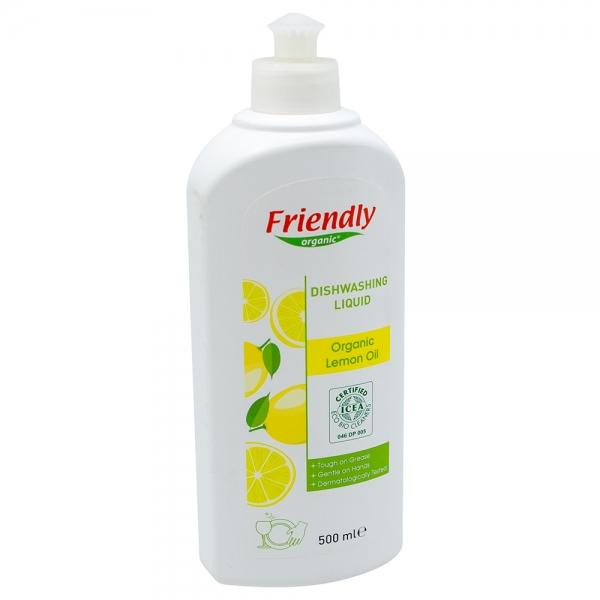 Detergent vase cu ulei organic de lamaie, Friendly Organic, 500 ml 0