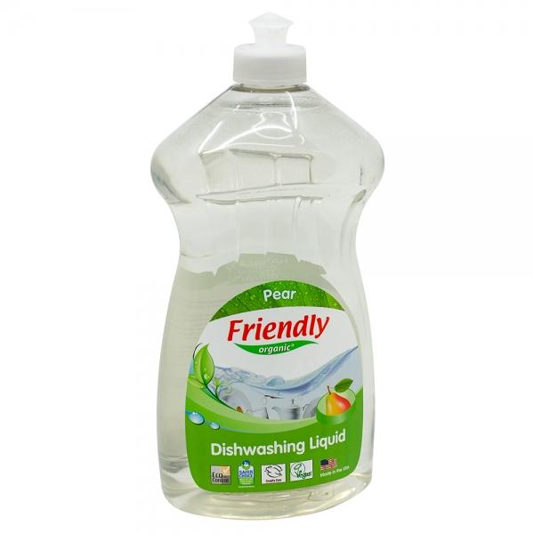 Detergent Vase si Biberoane cu Esență Naturală de Pere Friendly Organic, 739ml 0