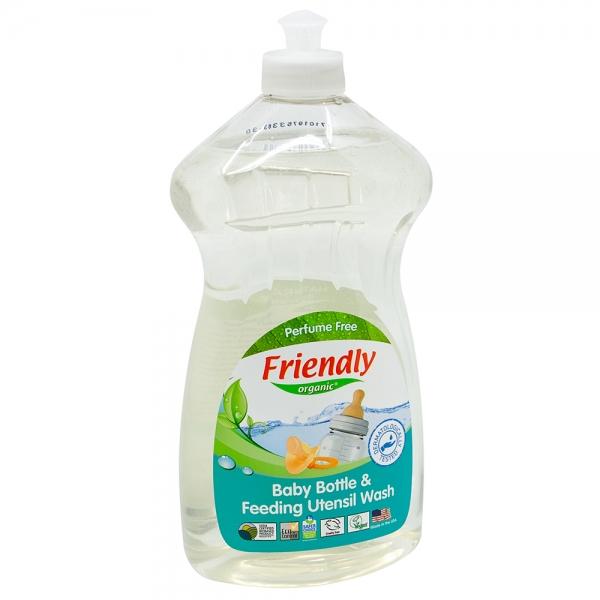 Detergent Vase si Biberoane fara miros si fara gust Friendly Organic, 739ml 0