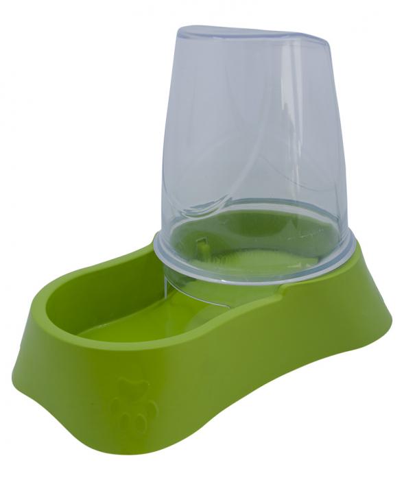 Dispenser mancare pentru animale, 2.7 l, verde [0]