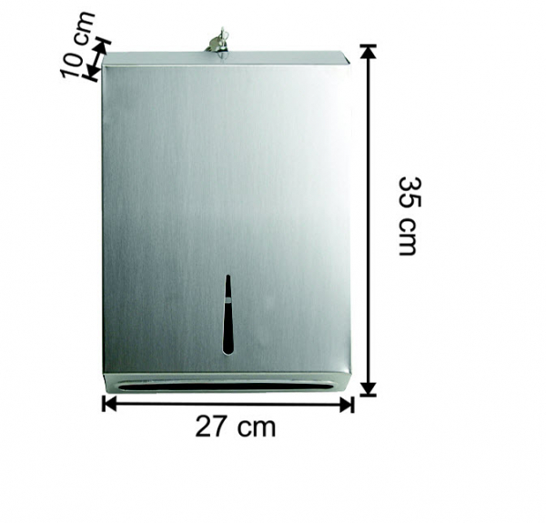 Dispenser inox prosoape pliate Z, cu sistem antivandalism [0]