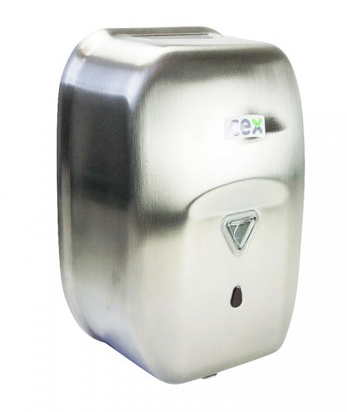 Dispenser sapun lichid cu senzor, din inox lucios, 1200 ml 2