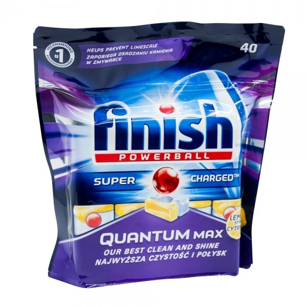 Finish Quantum Max Lemon detergent pentru masina de spalat vase, 40 tablete