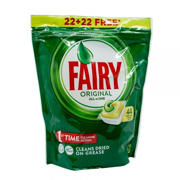 Fairy All in 1 Original Lemon Detergent pentru masina de spalat vase, 44 capsule