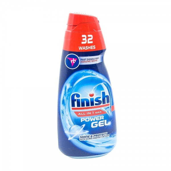Finish All in 1 Max Shine & Protect detergent gel pentru masina de spalat vase, 32 spalari 0