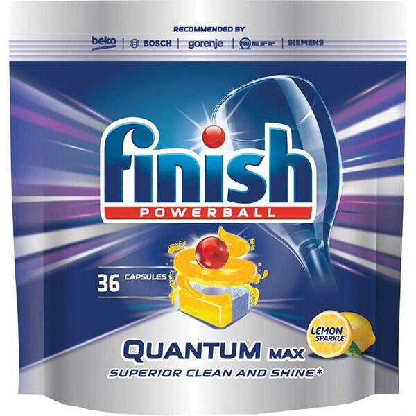 Finish Quantum Max  Lemon detergent pentru masina de spalat vase, 36 tablete [0]