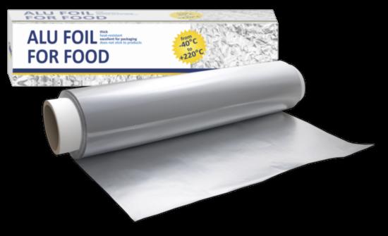 Folie aluminiu pe rola, 29 cm, 13 microni, 1 kg [0]