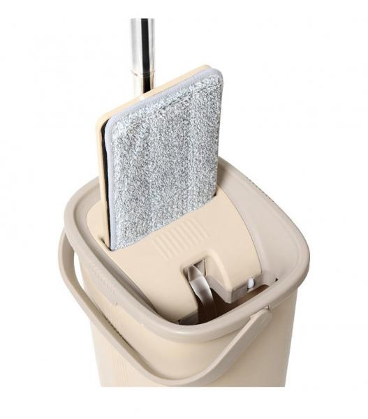 Galeata cu mop plat 40 cm, Tablet, cu 2 compartimente, 10 L (2*5L) 1