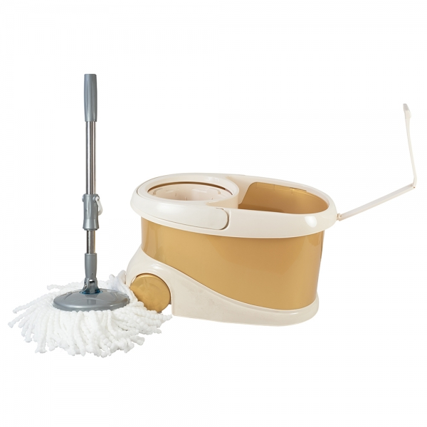 Galeata cu mop rotativ si roti, Willy, gold, 20 l 0